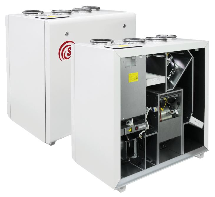 Компактные приточно-вытяжные установки с роторным рекуператором (вертикальное исполнение) RIRS V EKO 3.0