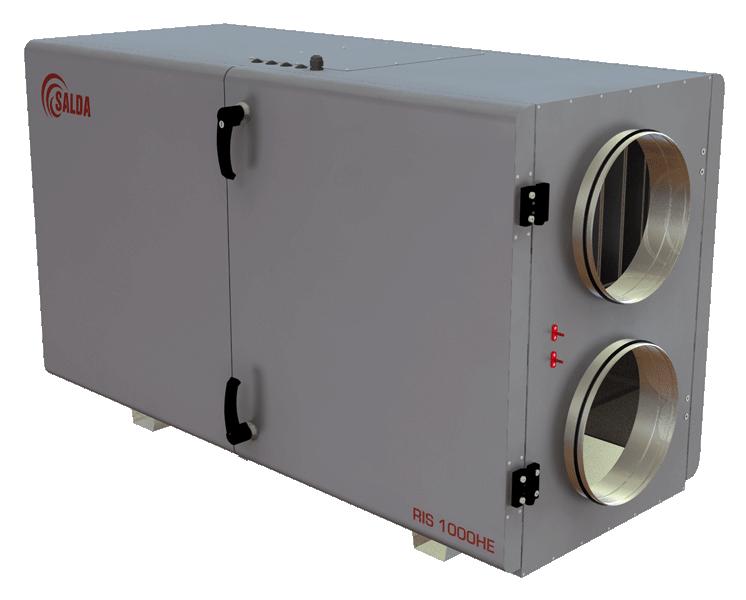 Компактные приточно-вытяжные установки с пластинчатым рекуператором (горизонтальное исполнение) RIS H 3.0