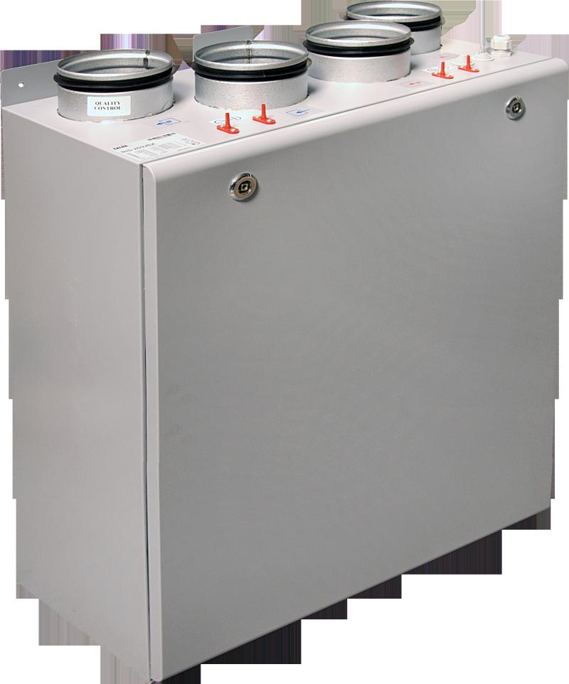 Компактные приточно-вытяжные установки с пластинчатым рекуператором (вертикальное исполнение) RIS V 3.0