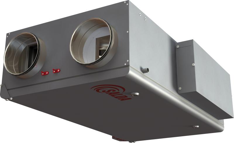 Компактные приточно-вытяжные установки с пластинчатым рекуператором (подвесное исполнение) RIS P EKO 3.0