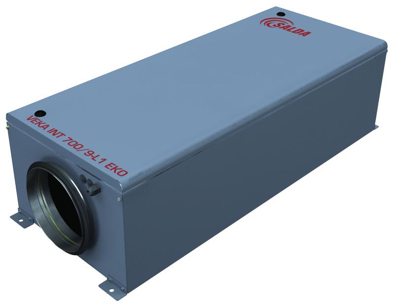 Компактные приточные установки с интегрированной системой управления с электрическими или водяными нагр. VEKA INT EKO