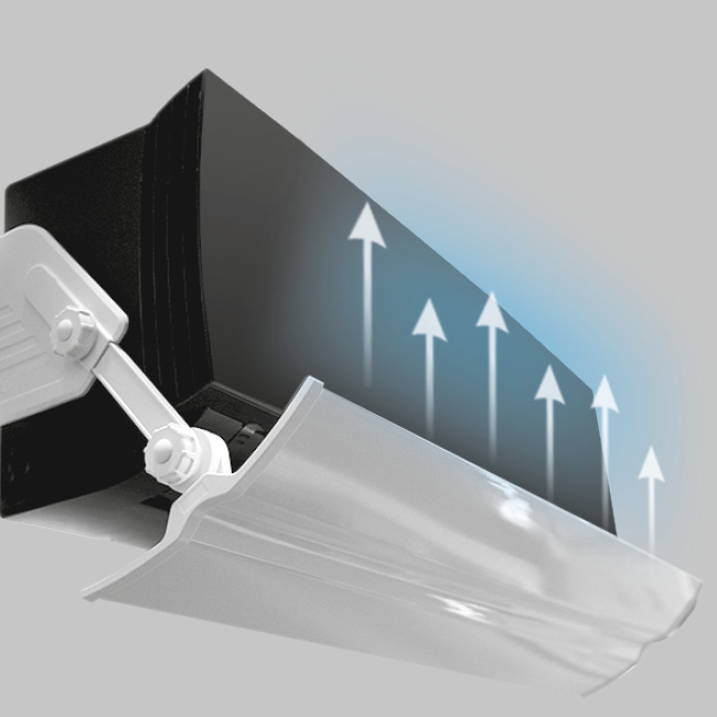Экраны-отражатели серии UMBRELLA для бытовых сплит-систем