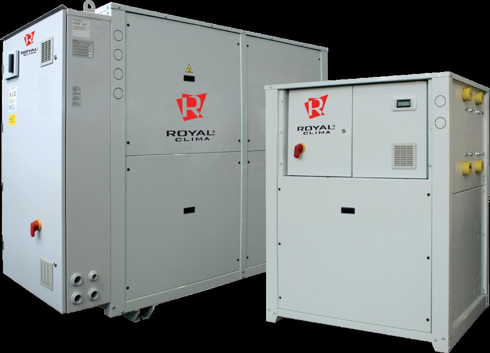 Чиллеры со спиральными компрессорами с водяным охлаждением конденсатора, бесконденсаторные серии DVA