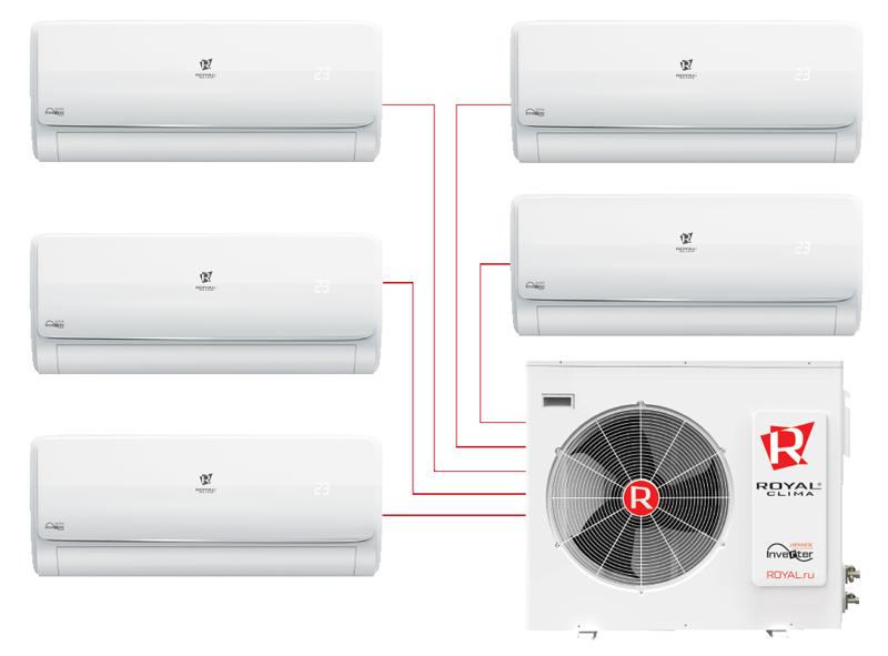 Инверторные мульти сплит-системы MULTI VELA Chrome Inverter