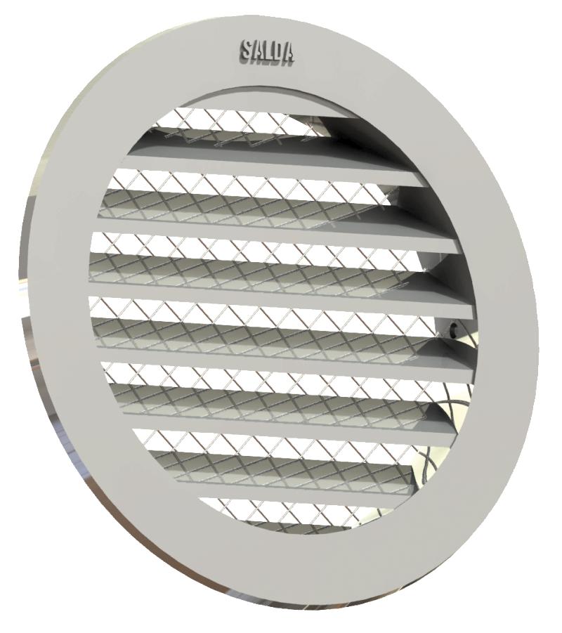 Круглые вентиляционные решетки ALU