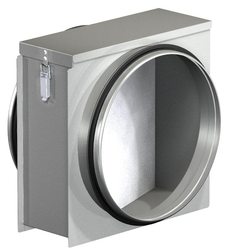 Фильтр-боксы с фильтром для круглых воздуховодов FD