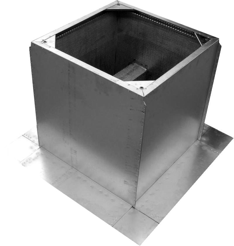 Крышные короба c шумоглушителем для монтажа на плоской кровле KSP-K