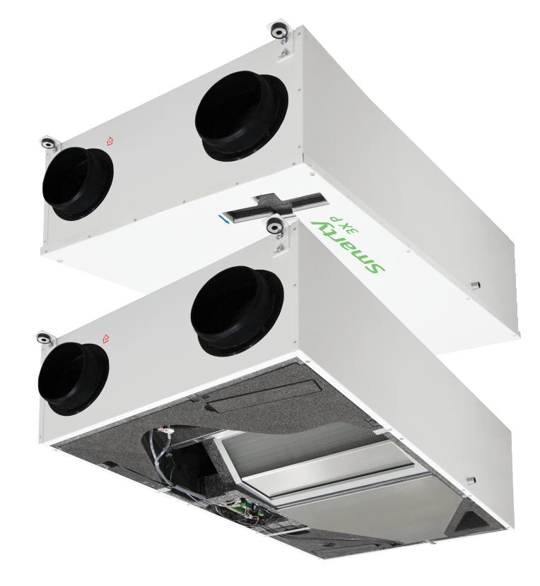 Компактные приточно-вытяжные установки с пластинчатым рекуператором (подвесное исполнение) SMARTY X P