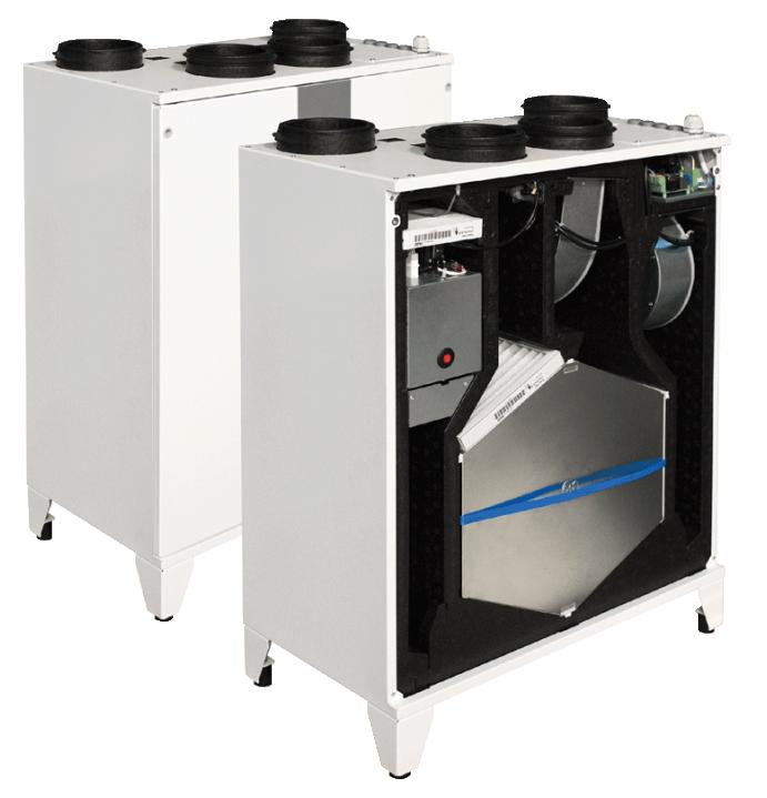 Компактные приточно-вытяжные установки с пластинчатым рекуператором (вертикальное исполнение) SMARTY X V