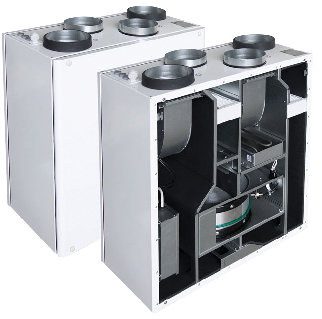 Компактные приточно-вытяжные установки с роторным рекуператором Smarty 2R V