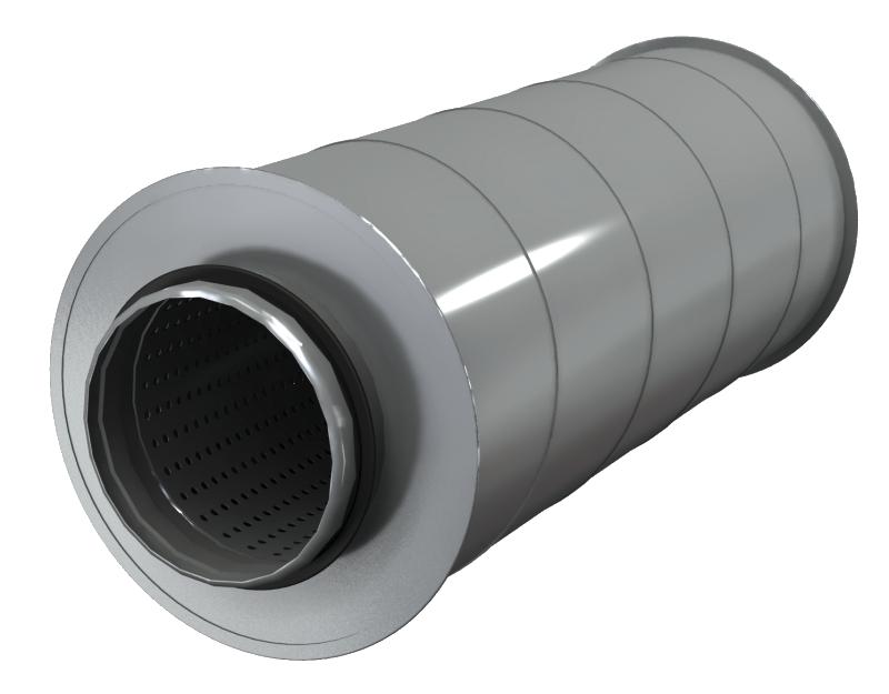 Шумоглушители для круглых воздуховодов AKS