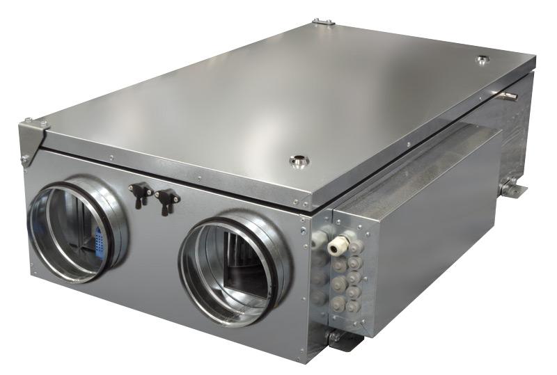 Компактные приточно-вытяжные установки с пластинчатым рекуператором (подвесное исполнение) ZPVP P