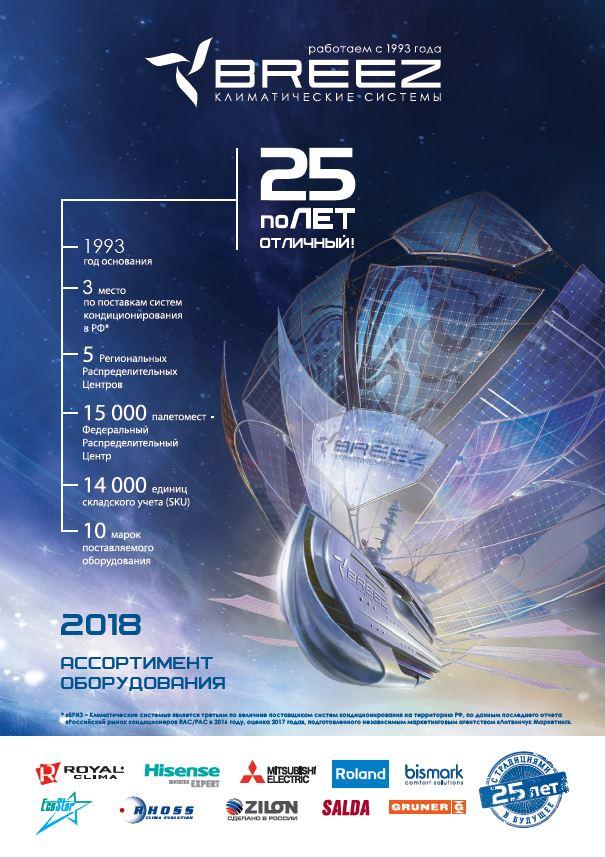 Ассортимент оборудования 2018